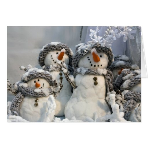 Snowman Christmas Greeting Cards