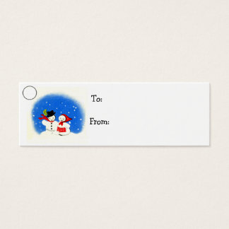 Snowman Christmas Holiday Gift Tag