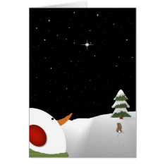 Snowman Christmas In Remembrance Greeting Card at Zazzle