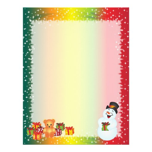 Snowman christmas letter paper letterhead zazzle for Christmas paper to write letters on