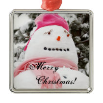 Snowman Christmas! Metal Ornament