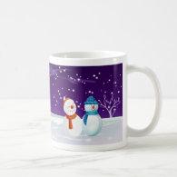 snowman christmas mug
