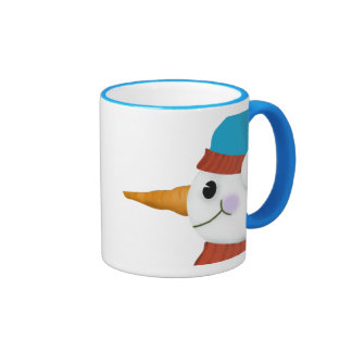 Snowman Christmas Mug2 Ringer Mug