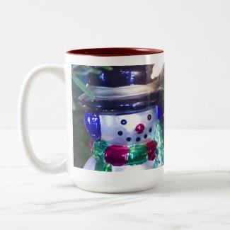 Snowman Christmas Ornament Coffee Mugs