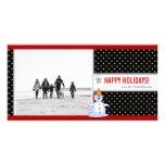 Snowman Christmas Photo Card