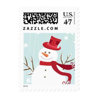 Snowman Christmas Postage