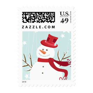 Snowman Christmas Postage at Zazzle