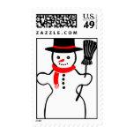 Snowman Christmas Postage Stamp