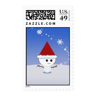 Snowman Christmas Postage Stamps