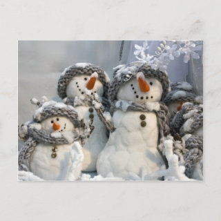 Snowman Christmas Post Cards