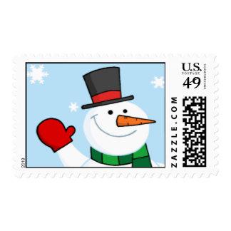 Snowman Christmas Stamp