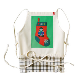 Snowman Christmas stocking Zazzle HEART Apron