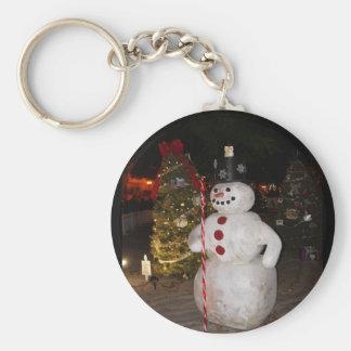 Snowman & Christmas Tree Keychain