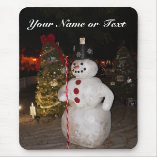 Snowman & Christmas Tree Mousepad