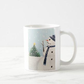Snowman Christmas Tree Mug