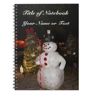 Snowman & Christmas Tree Notebook