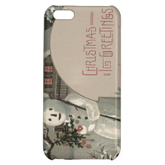 Snowman Christmas Tree Ornaments Cottage Snow Case For iPhone 5C