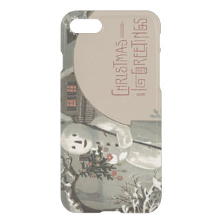 Snowman Christmas Tree Ornaments Cottage Snow iPhone 7 Case