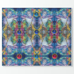 SNOWMAN ,CHRISTMAS TREE,TOYS,GEMSTONES Abstract Wrapping Paper