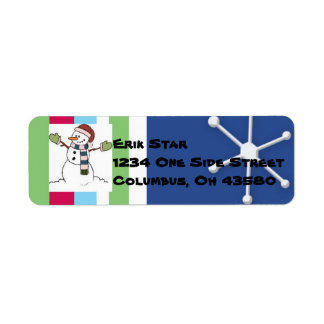 Snowman Collection Return Address Labels