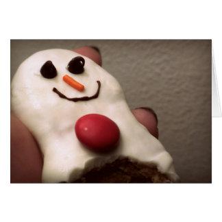 Snowman cookie card