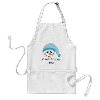 Snowman Cookie Frosting Time Adult Apron
