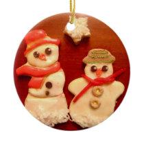 Snowman cookies *CUSTOMIZABLE* ornament