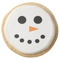 Snowman Cookies Round Premium Shortbread Cookie