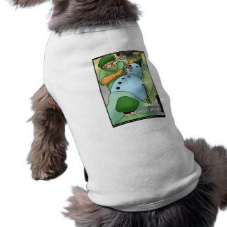 Snowman Cosmetic Surgery Funny Gifts Tees Cards Doggie T Shirt