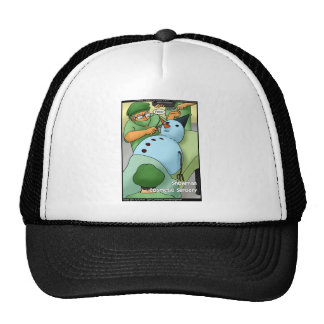 Snowman Cosmetic Surgery Funny Gifts Tees Cards Trucker Hat