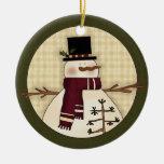 Snowman Country Christmas Keepsake Gift Christmas Tree Ornament