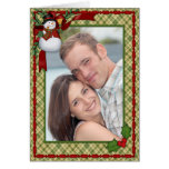 Snowman Country Christmas Photo Greetings Greeting Card