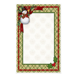 Snowman Country Christmas Stationery