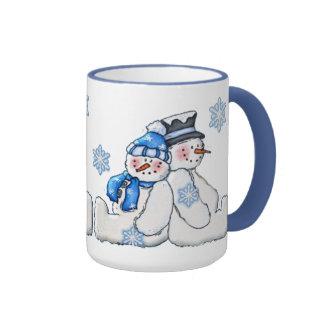 Snowman Couple Holiday Mug