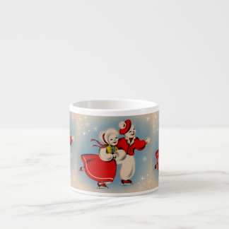 Snowman Couple Ice Skating Espresso Cup