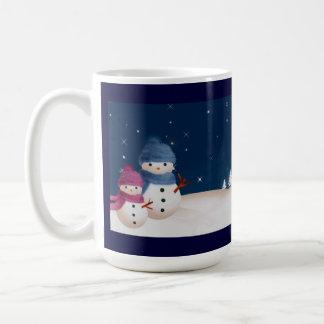 Snowman Couple Mug