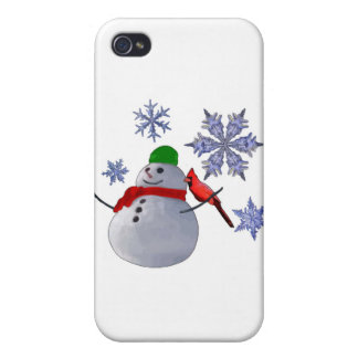 Snowman Cover For iPhone 4