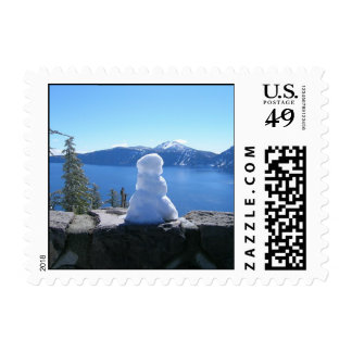 Snowman Crater Lake National Park Stamp
