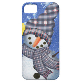 Snowman Crescent Moon and Snowflake iPhone SE/5/5s Case