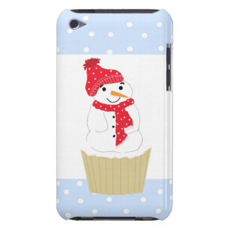 Snowman Cupcake in Red iPod Case-Mate Case