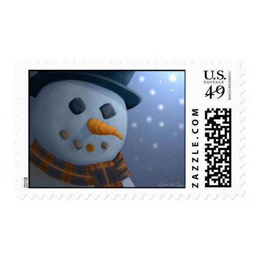 Snowman Custom Postage Stamps