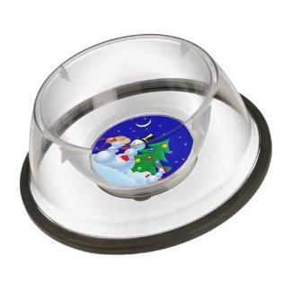Snowman Dancing Pet Bowl