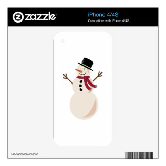 Snowman Decals For iPhone 4