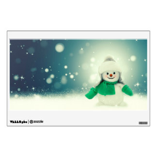 Snowman decoration wall decal