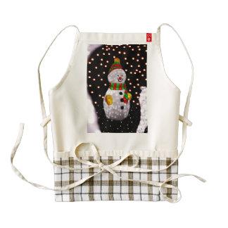 Snowman decoration zazzle HEART apron