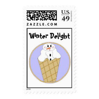 Snowman Delight Postage Stamps
