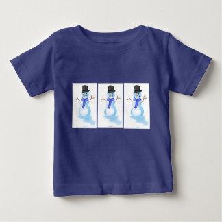 Snowman design on infant t-shirt
