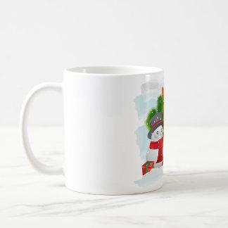 Snowman design on mug