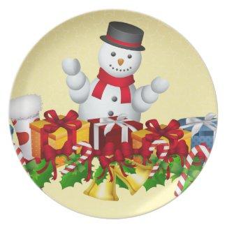Snowman Dinner Plate