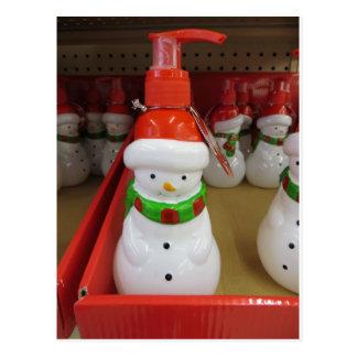 Snowman Dispenser Postcard
